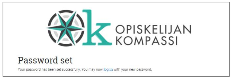 Your password hasbeen set successfully. You may now log in with your new password.
